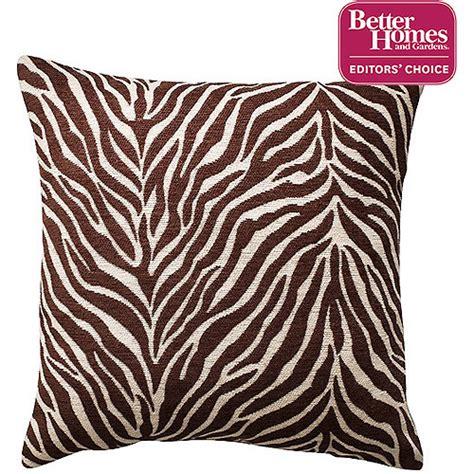 Brown Zebra Print Pillows by Better Homes And Gardens Zebra Decorative Pillow Walmart