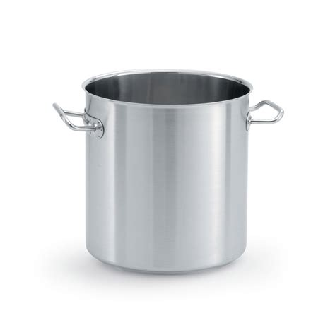 large induction stock pot vollrath 47724 38 qt stainless steel stock pot induction ready