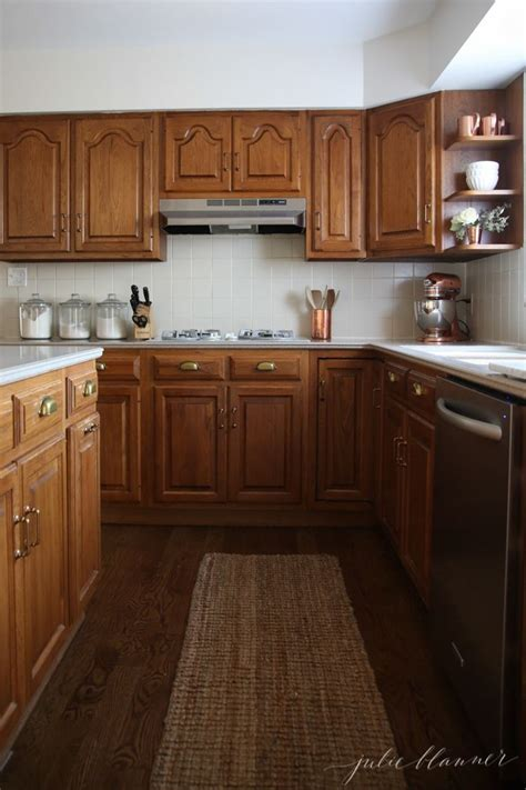 entertainment center makeover on pinterest painting oak how to minimize your 80 s kitchen with oak cabinets