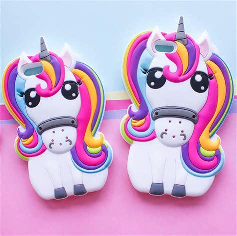 Iphone 6g Silikon 3d Cover Silikon aliexpress buy 3d rainbow unicorn