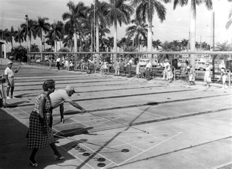 Fort Myers Court Records Florida Memory Players Enjoy The Shuffleboard Courts Fort Myers Florida
