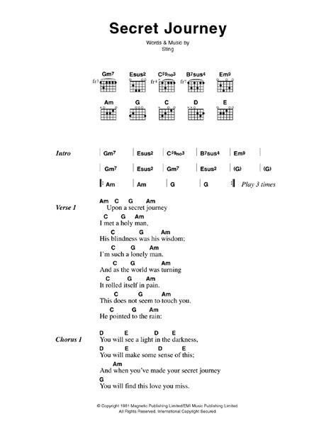 secret chords secret journey by the guitar chords lyrics