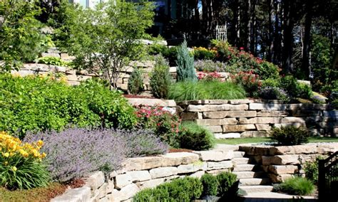 landscaping sloped backyard sloped front yard landscaping ideas images