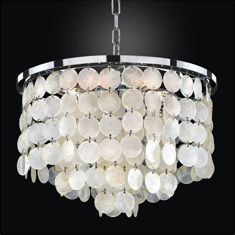 Shell Chandelier Capiz Shell Chandelier Bayside 636 Glow 174 Lighting