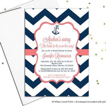 printable nautical bridal shower invitations nautical bridal shower invitations navy from