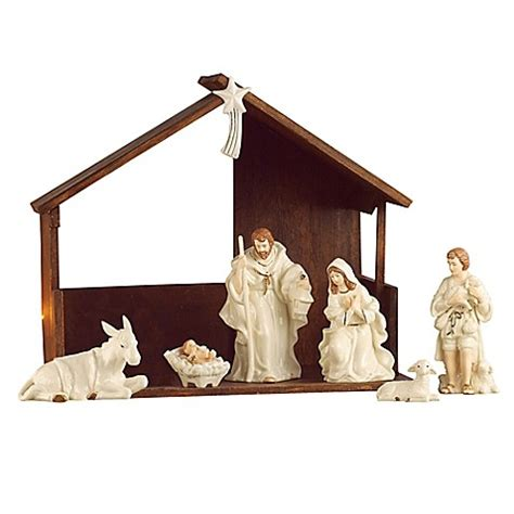 belleek holiday collection 9 piece christmas nativity set