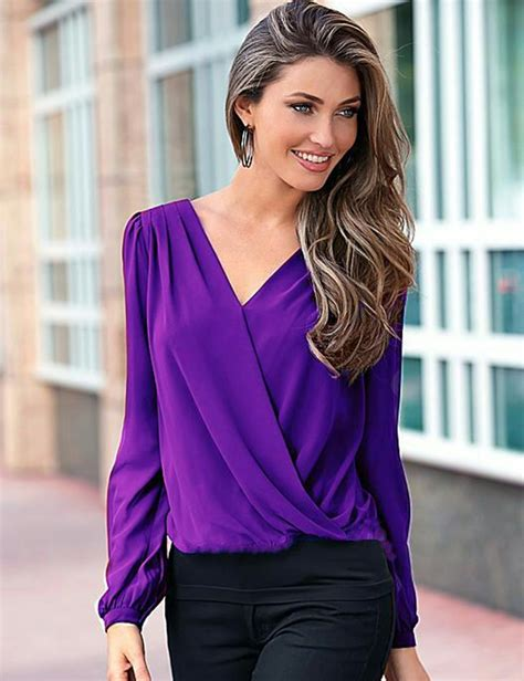 Ollan Blouse popular purple blouse buy cheap purple blouse