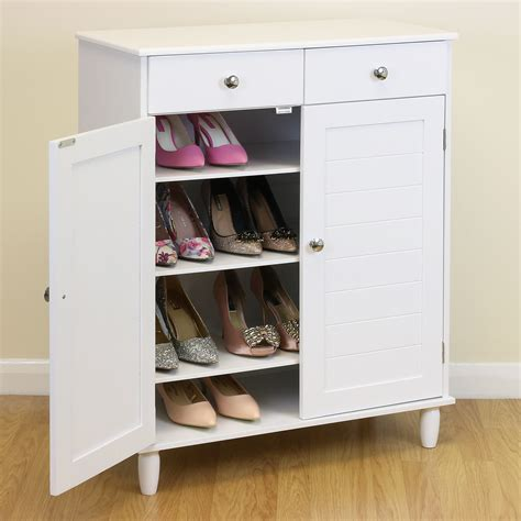 bedroom shoe storage white wooden 4 tier shoe storage cabinet hallway bedroom