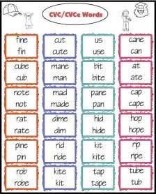 C Cvc Words by Teacher S Take Out Cvc Cvce And Cvc C V V C Words Freebie