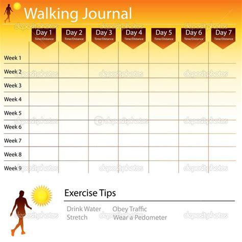 Free Printable Walking Log Chart Walking Journal Chart Stock Vector 169 John Takai 5289563 Free Walking Templates