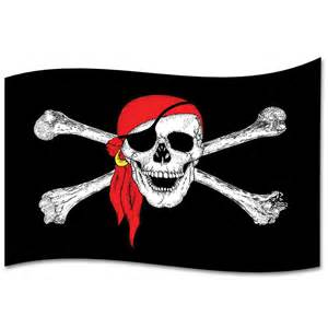 Bandana Shower Curtain - giant skull in bandana display flag 2 4m x 1 5m peeks