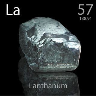 Lanthanum Protons Neutrons And Electrons 57 Lanthanum La Periodic Table By Mister Molato
