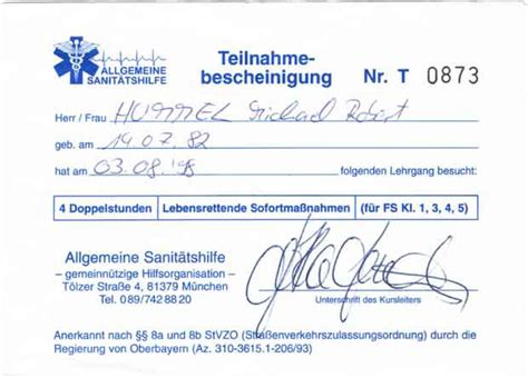 Gutschein Motorradf Hrerschein by F 252 Hrerschein Bescheinigungen