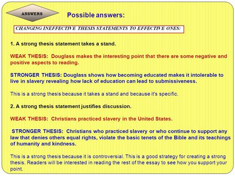 Strong Takes A Stand 7 thesis statements what why and how ppt