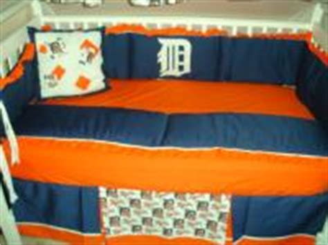 Detroit Tigers Crib Bedding Baby Nursery Crib Bedding Set W Detroit Tigers Fabric Ebay