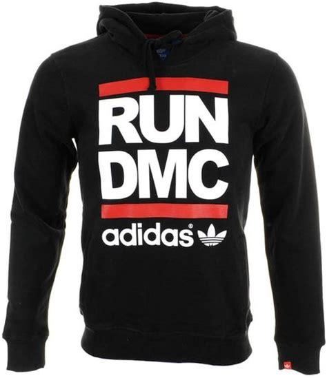 Hoodies Run Dmc Adidas adidas originals run dmc hoodie jumper in black for lyst
