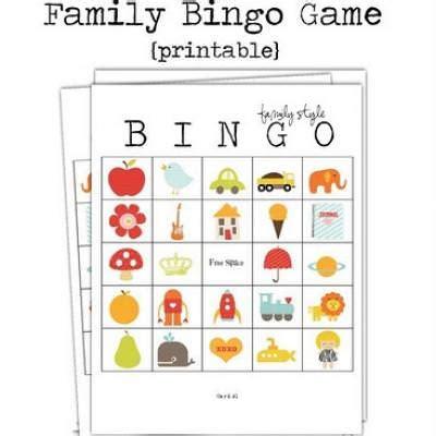 printable games about family family bingo printable printable bingo cards tip junkie