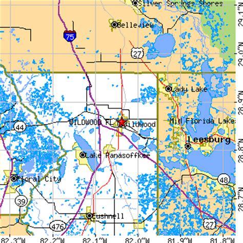 where is wildwood florida on the map wildwood florida fl population data races housing