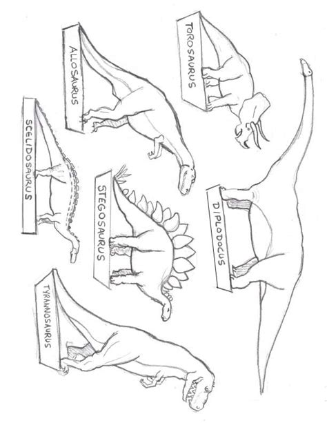 printable images for diorama free coloring pages of dinosaur cut outs