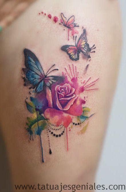 imagenes de mariposas y flores para tatuajes 80 tatuajes de rosas y sus significados im 225 genes