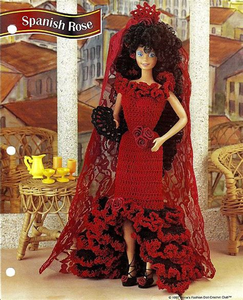 crochet pattern books in spanish spanish rose crochet pattern annies fashion doll crochet