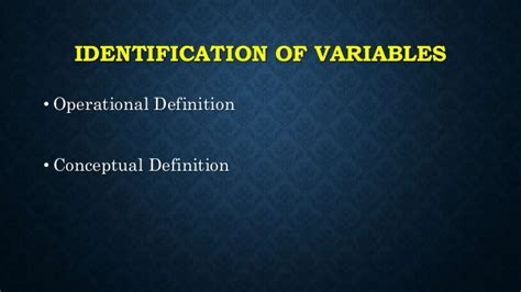 meaning of pattern variables research variables types and identification