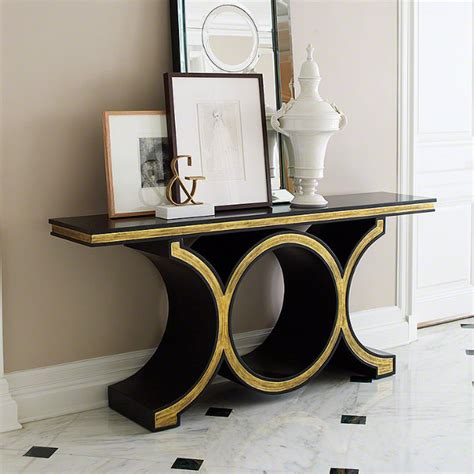 black and gold table top 12 entrance console tables