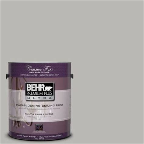 behr premium plus ultra 1 gal ppu18 11 ceiling tinted to classic silver interior paint 555801
