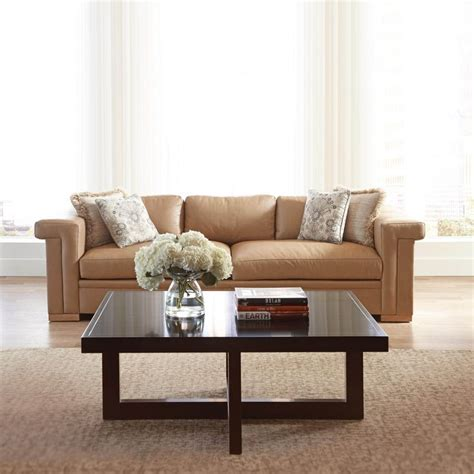 stickley leather sofa stickley carson leather sofa living room transitional