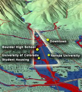 colorado flood plain map boulder colorado high hazard flood area