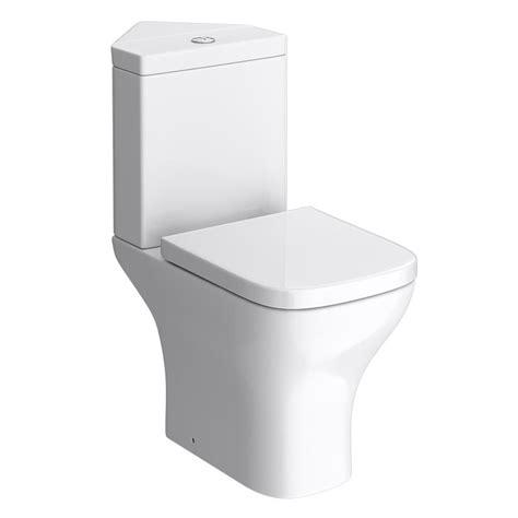 venice modern corner toilet with soft close seat