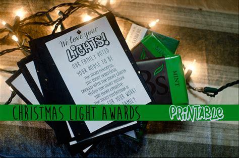 christmas awards lights awards printable jessicalynette