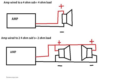 single voice coil wiring diagram 4ohms get free image