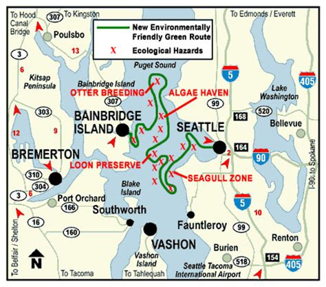 washington state ferries map seattle ferries map ausdrucken
