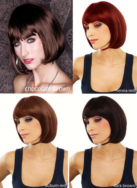 auburn wig with bangs cognac auburn bob cindy wig with bangs