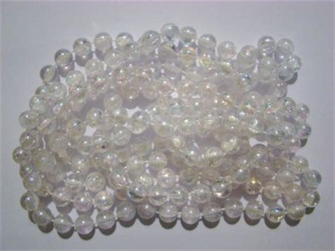 10mm clear iridescent bead christmas tree garland weddings