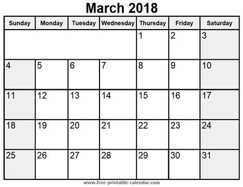 printable calendar for march 2018 printable march 2018 calendar