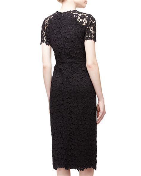 Sleeve Midi Sheath Dress shoshanna sleeve lace midi sheath dress