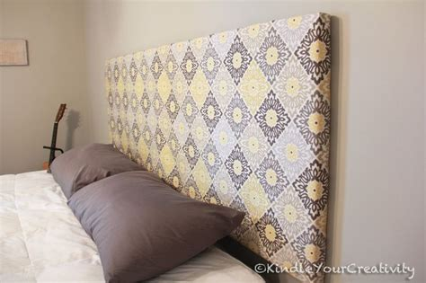 diy fabric headboard bukit