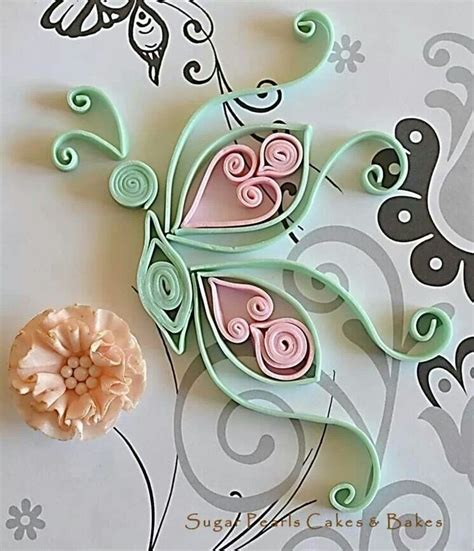 tutorial for quilling fondant quilled fondant butterfly with ruffle rose quilling