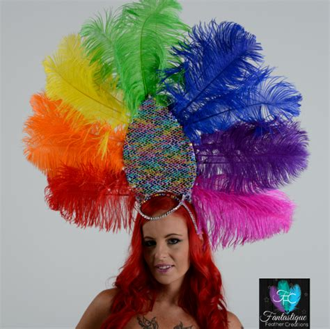 extra large feather fans mardi gras showgirl costume extra pictures fantastique