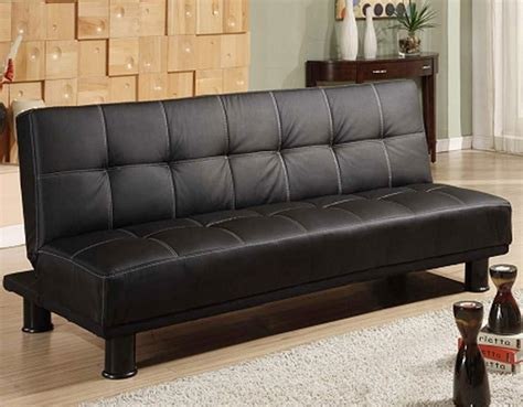 brand new firm thick leather click clack sofa bed free