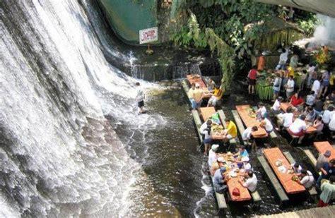 villa escudero waterfalls restaurant villa escudero resort waterfall restaurant philippines