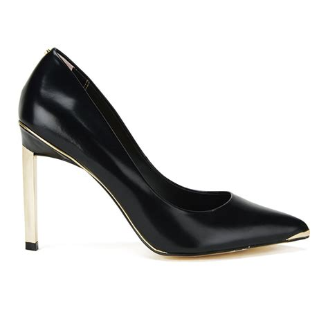 ted baker s elvena patent leather court shoes