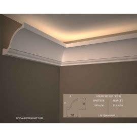 Lu Led Gypsum corniches plafond en pl 226 tre staff eclairage indirect