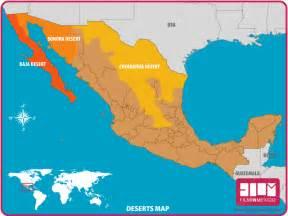 desert map mexico desert map