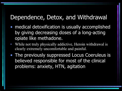 Ghb Withdrawal Detox by Dependence Detox And Withdrawal