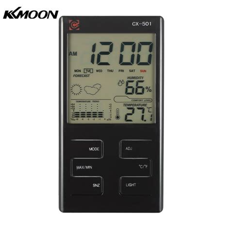 Eutech Ecoscan Temp 5 Temperature Meter 1 indoor lcd digital temperature humidity meter clock thermometer hygrometer temperature trend