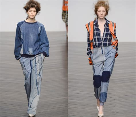 printed jeans denim trends for fall 2013 shop london fashion week denim jeanswear 2013 14 fw womens