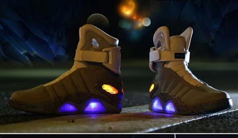 back to the future basketball shoes air mag led mens mag back to the future 2 light up shoes